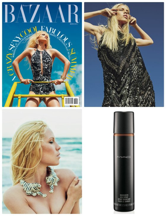 harpers bazaar mac spray bronzant